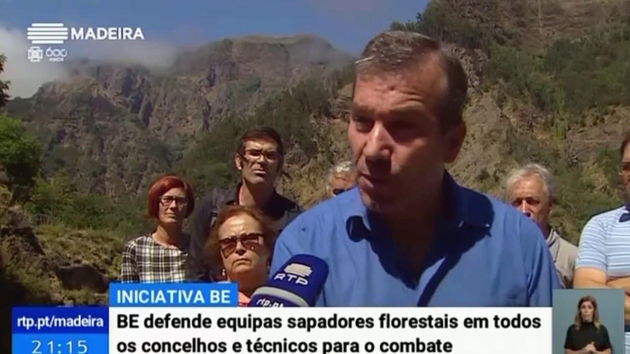 Bloco defende reflorestação e sapadores florestais   Telejornal RTP Madeira